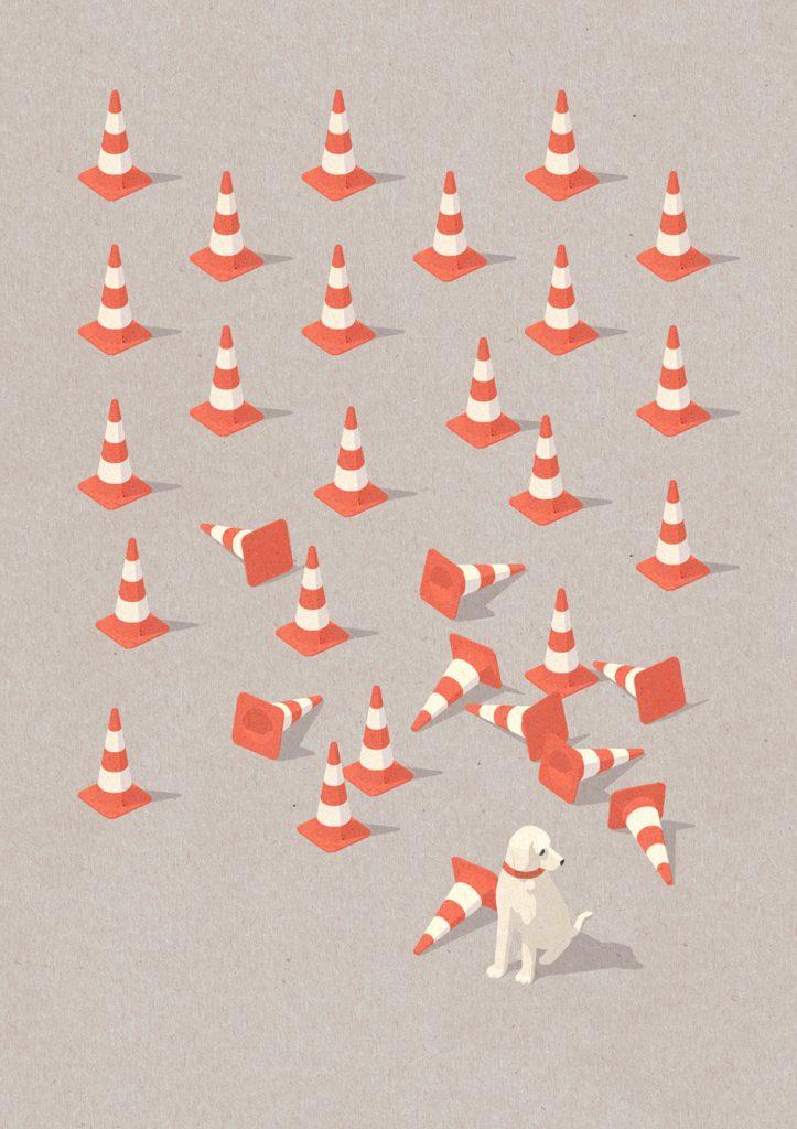 editorial illustration by Justine Shirin